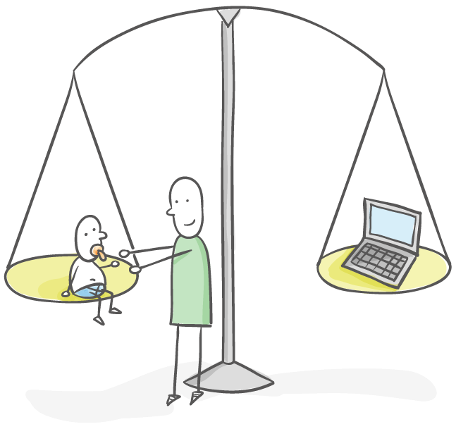 Balance between family and work
